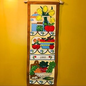 Vintage 1995 sequined wall hanging